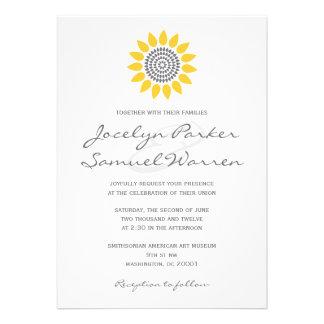 Elegant Sunflower Wedding Custom Invitations