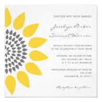 Elegant Sunflower Wedding 5.25x5.25 Square Paper Invitation Card (<em>$2.85</em>)