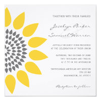 Elegant Sunflower Wedding Invitations (<em>$2.85</em>)