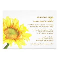 Elegant Sunflowers Casual Outdoor Wedding Invites