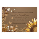 Elegant Sunflowers Wedding Reception Card Business Cards