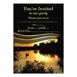 Elegant Sunset Swan Personalized Invites