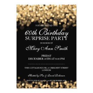 Elegant 60th Birthday Invitations Zazzle