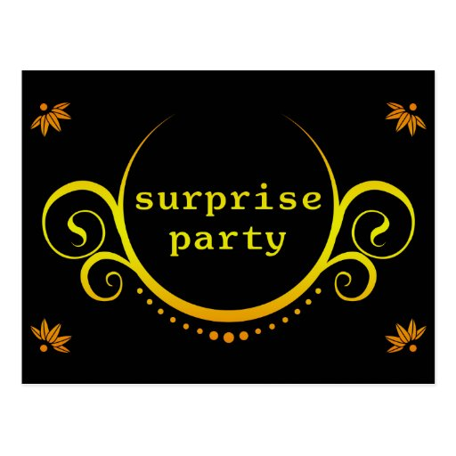 elegant surprise party invitation postcard