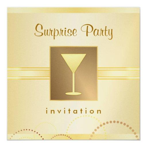 Elegant surprise party invitations metallic gold zazzle - Metallic pergola design ideas seven elegant choices ...