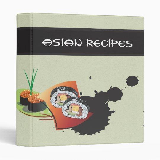 Elegant Sushi Asian Recipes Binder