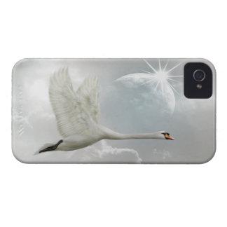 Elegant Swan in Flight iPhone 4 Case