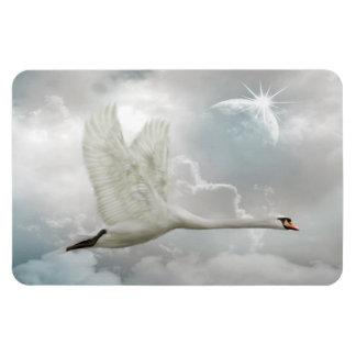 Elegant Swan in Flight  Magnet