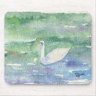 Elegant Swan Mousepad