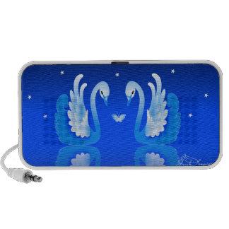 Elegant Swans On A Blue Lake iPhone Speaker