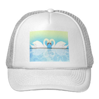 Elegant Swans with blue and green Trucker Hat