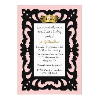 Elegant Sweet 16 Birthday Party Invitation