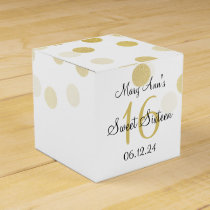 Elegant Sweet 16 Faux Gold Foil Glitter Lights Favor Box