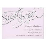 "Elegant Sweet 16 Invite in Pale Pink 6.5"" X 8.75"" Invitation Card"