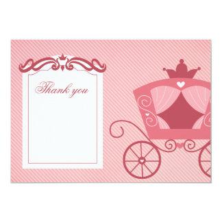 Elegant sweet pink carriage thank you card