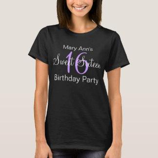 Elegant Sweet Sixteen Party Purple T-Shirt
