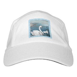 Elegant Swimming White Swan Baby Swan Headsweats Hat
