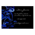 Elegant Swirl Blue Business Card