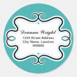 Elegant Swirl Border and Damask Stickers
