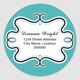 Elegant Swirl Border and Damask Stickers