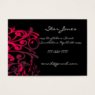 Elegant Swirl Business Card -Purple -