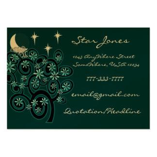 Elegant Swirl Business Card - With Stars
