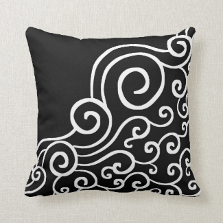 Elegant Swirl Pattern Black And White Decorative