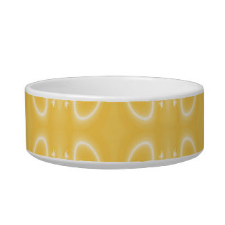 Elegant Swirl Pattern in Golden Yellow Colors. Bowl