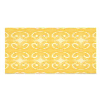 Elegant Swirl Pattern in Golden Yellow Colors Picture Card
