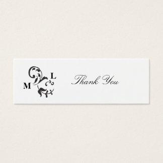 Elegant Swirl Wedding Favor Thank You Tags