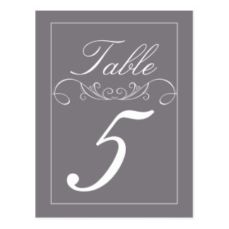 Elegant Swirl Wedding Table Number Cards