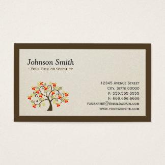 Elegant Swirl Whimsical Tree - Modern Professional Business Card