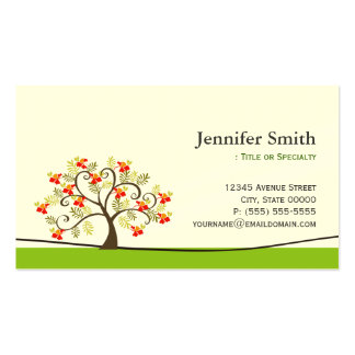 Elegant Swirl Wish Tree Symbol - Appointment Double-Sided Standard Business Cards (Pack Of 100)