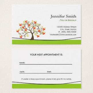 Elegant Swirl Wish Tree Symbol - Appointment Business Card
