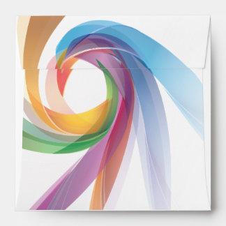 Elegant Swirling Rainbow Invite Envelope
