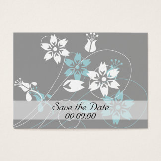 Elegant Swirls and Flowers Business Card