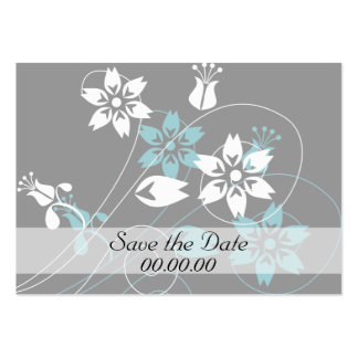 Elegant Swirls and Flowers Large Business Card