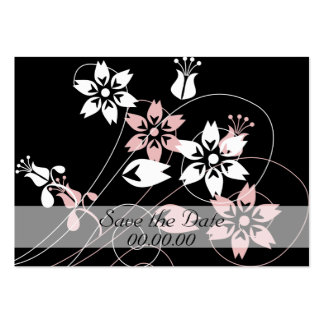 Elegant Swirls and Flowers Large Business Cards (Pack Of 100)