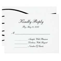Elegant Swirls Black & White Rsvp Cards at Zazzle