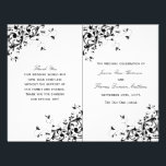 """Elegant Swirls Black &amp; White Wedding Program<br><div class=""""desc"""">These elegant black and white swirl wedding bi-fold program templates are perfect for any couple planning a romantic modern marriage. These bi-fold program templates can be personalized for your special occasion and would make the perfect order of service for any wedding, bridal shower, engagement party, birthday party and much, much...</div>"""