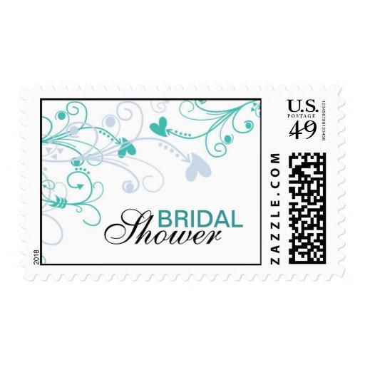 Elegant Swirls Bridal Shower Stamps