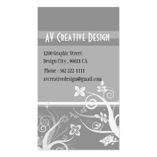 Elegant Swirls - Customized Business Card Templates