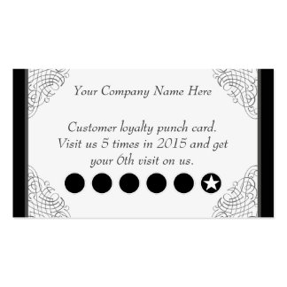 Elegant Swirls Discount Promotional Punch Card Double-Sided Standard Business Cards (Pack Of 100)