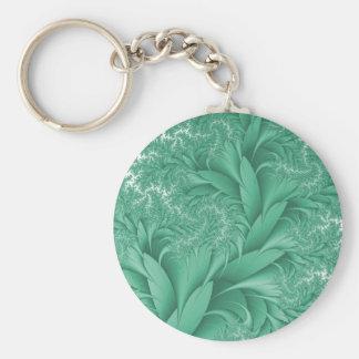 Elegant Swirls Green Autumn Keychain Key Chains