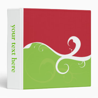 Elegant Swirls Merry Christmas 3 Ring Binder