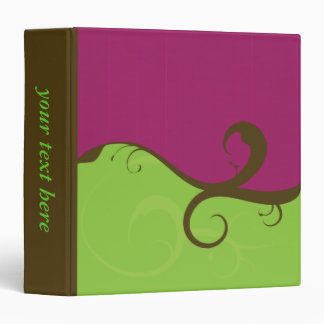 Elegant Swirls Purple and Green binder