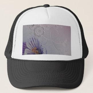elegant swirls purple orchid floral fashion trucker hat