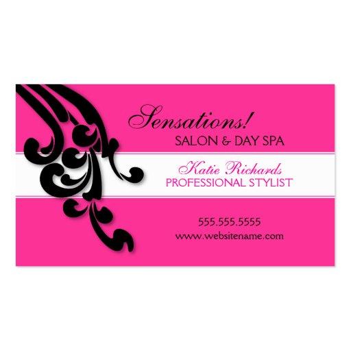 Elegant Swirls Salon Business Cards