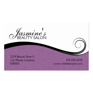 Elegant Swirls Salon Lavender Business Cards