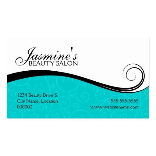 Makeup artist business card templates page60 bizcardstudio for Salon turquoise